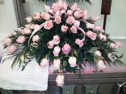 casket spray all pink spray the flower cottage