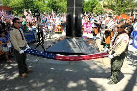 Flag Folding Ceremony Flag Day In Sunnyside Www Qgazette Com Queens Gazette