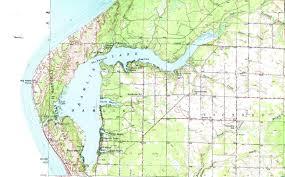Map Lake Michigan by Inlet Lakes
