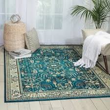 Teal Area Rug Nourison Teal Area Rug 7 10 X 10 Free Shipping Today