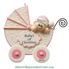 Personalized Christmas Ornaments Baby Personalized Christmas Ornaments Baby U0027s First Christmas Stroller Pink