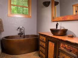 Copper Bathroom Vanity by Wood And Copper Bath Vanity Artisan Crafted Home