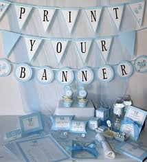 baby shower banner diy baby shower printables baby boy blue diy party supplies and