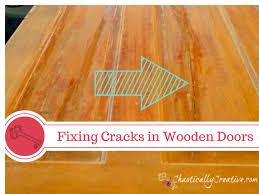 Wooden Door Repairing Cracks In Wooden Door Panels Chaotically Creative