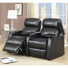 cuddle couch home theater seating baxton studio sectional leather 4 seat theater lounger with