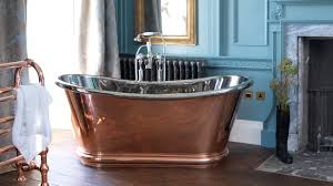 hurlingham the bath company copper bulle freestanding roll top bath