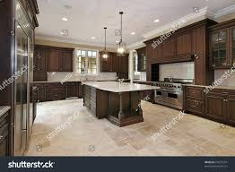 wood cabinet kitchen wood cabinet kitchen luxury home stock photo 27877234 shutterstock