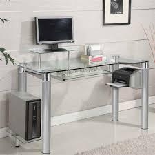 Modern Computer Desk by Amazon Com Innovex Saturn Computer Desk Clear Kitchen U0026 Dining