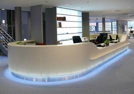 Rounded Reception Desk Low Price Stain Resistant White Curved Reception Desk Office Use
