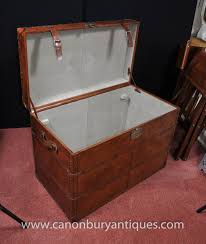 photo of big english leather campaign luggage trunk storage box