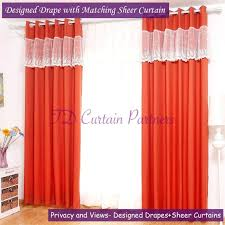 Coral Sheer Curtains Curtain Staggering Coral Sheerins Image Conceptin Walmart