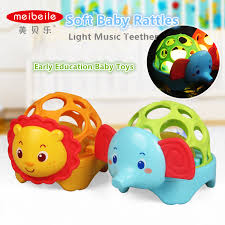 baby toys with lights and sound meibeile light sound cute soft rubber animals cartoon educational