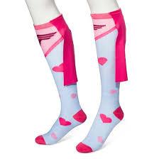 s s day 3d knee high socks blue