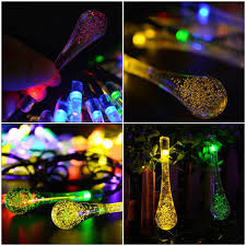 Solar Powered Outdoor Led String Lights by Solar Powered Outdoor Led String Lights For Outside Garden Patio