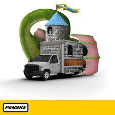 slay the dragon of moving in a penske rental truck halloween
