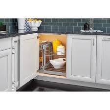 blind corner kitchen cabinet inserts rev a shelf 21 in h x 32 25 in w x 20 25 in d blind