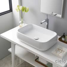 mensola lavabo da appoggio lavabi da appoggio colorati di design lavabi bagno ceramica cielo