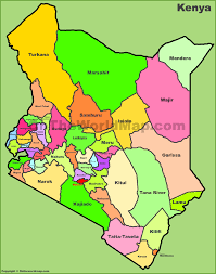 United States Map With Labels by Administrative Map Of Kenya