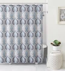 Teal And Grey Bathroom by Lawrence Beryl Blue Gray Taupe Teal Aqua Paisley Fabric Shower