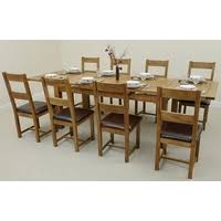 Oak Extending Dining Table And 8 Chairs Dining Tables For Sale Uk Shop
