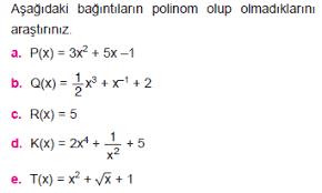 polinom mu değil mi çözümüyle resme tiklayin eodev com