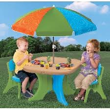 step2 table and chairs green and tan childrens plastic table and chairs stones finds