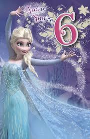 uk greetings frozen 6th birthday card whsmith