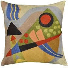 Modern Cushions For Sofas Kandinsky Composition Vii Cushion Cover Embroidered 18 X 18