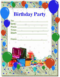 birthday invitation template word birthday invitation template