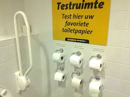this toilet at a dutch supermarket lets you test the brands of
