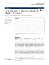 social innovation in education brac boat schools in bangladesh