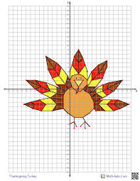 free printable thanksgiving turkey this graphing worksheet will