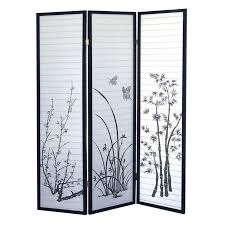 wall ideas natural 3 panel room divider home depot canada wall
