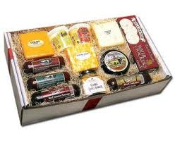 cheese gift box deluxe wisconsin cheese and sausage gift box
