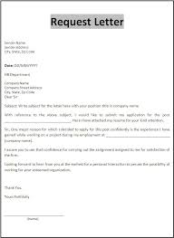 Sample Letter Of Resume To Work by Request Letter Template Free Printable Word Templates Business