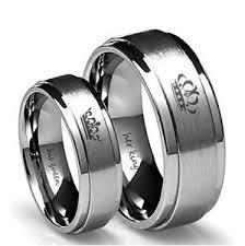 king and crown wedding rings titanium crown wedding ring king his stainless