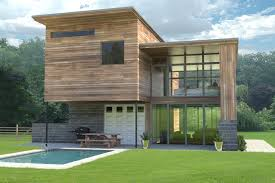 home design grey theme brown wooden wall and glass wall theme added by dark grey roof and