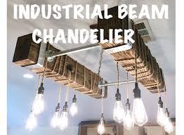 Chandelier With Edison Bulbs Diy Industrial Beam Chandelier With Led Edison Bulbs 17 Steps