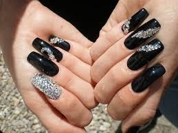 acrylic nails with rhinestones luxury nails beautiful acrylic