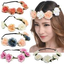flower band new flower women forehead hair band wedding flower wreath