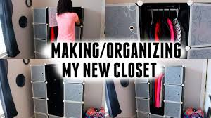 making organizing my new closet lifewit diy plastic clothes