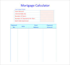 Excel Mortgage Calculator Template Amortization Table Excel Auto Loan Amortization Schedule Template