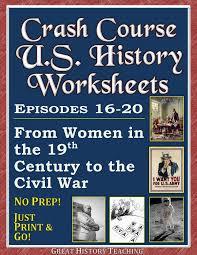 35 best crash course u s history worksheets images on pinterest