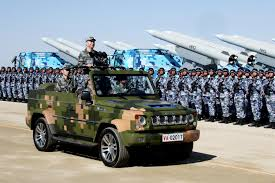 military police jeep chinese president oversees military parade in show of might 680 news