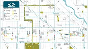 Chicago Printable Map by Meet The 606 Chicago U0027s New Elevated Bikeway And Park News