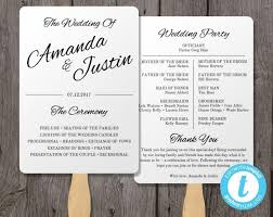 printable wedding program template printable wedding program fan template fan wedding program