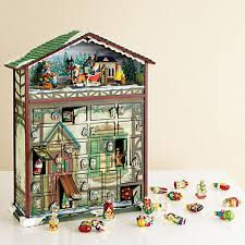 animated santa musical advent calendar mini ornaments gump s