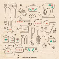 dessins cuisine ustensiles de cuisine dessins télécharger des vecteurs gratuitement
