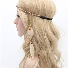 hippie hair accessories bohemian festival feather headband hippie indian headdress hair