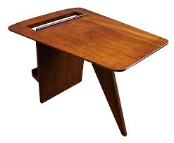 jens risom t539 walnut magazine table chairish